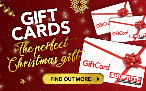 GIFT CARDS. THE PERFECT CHRISTMAS GIFT