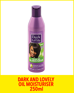 DARK AND LOVELY OIL MOISTURISER 250ml