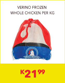 VERINO FROZEN WHOLE CHICKEN PER KG, K21,99