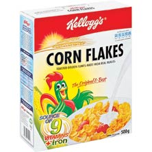 KELLOGS CORN FLAKES CEREAL 500G, 14.99