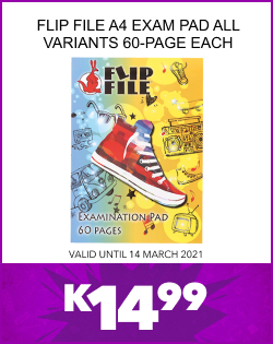 FLIP FILE A4 EXAM PAD ALL VARIANTS 60-PAGE EACH, K14,99