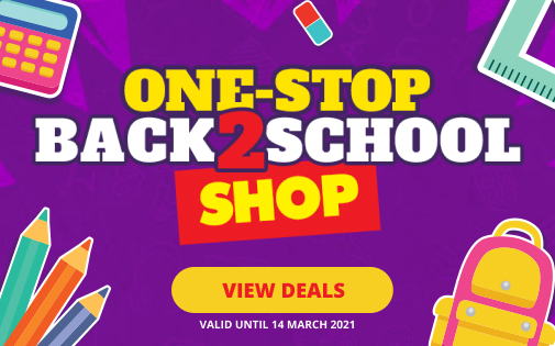 ONE-STOP BACK TO SCHOOL SHOP