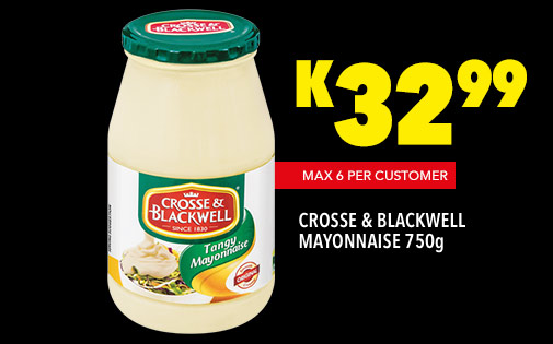 CROSSE & BLACKWELL MAYONNAISE 750g, K32,99