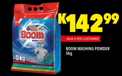 BOOM WASHING POWDER 5kg, K142,99