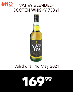 VAT 69 BLENDED SCOTCH WHISKY 750ml, 169,99