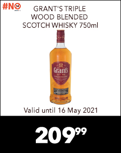 GRANT'S TRIPLE WOOD BLENDED SCOTCH WHISKY 750ml, 209,99