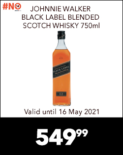 JOHNNIE WALKER BLACK LABEL BLENDED SCOTCH WHISKY 750ml, 549,99