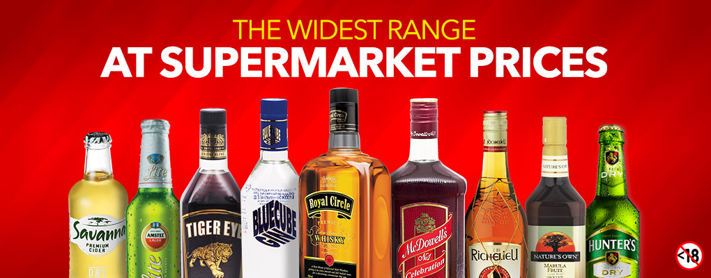 THE WIDEST RANGE AT SUPERMARKET PRICES